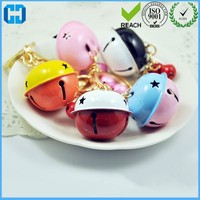Wholesale Jewelry Accessories Bells Pierced Bell Stars Double Color Christmas Bells