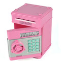Mini Pink ATM Piggy piggy bank with coin counter