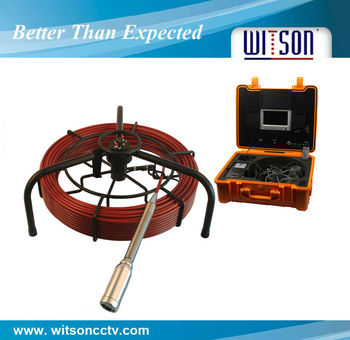 Witson Drain Inspection Camera With Self-leveling Camera Head and Sonde