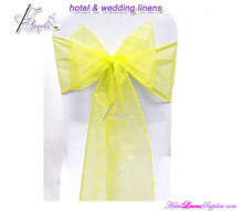 colorful high quality crystal organza sashes, snow wedding sashes for wedding chair cover decoration