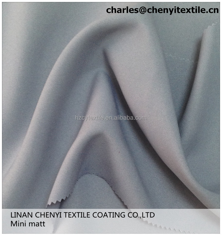 100% polyester plain weave mini matt fabric
