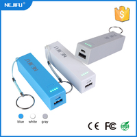 universal 2600mah powerbank mobile power pack with led indicator made in China