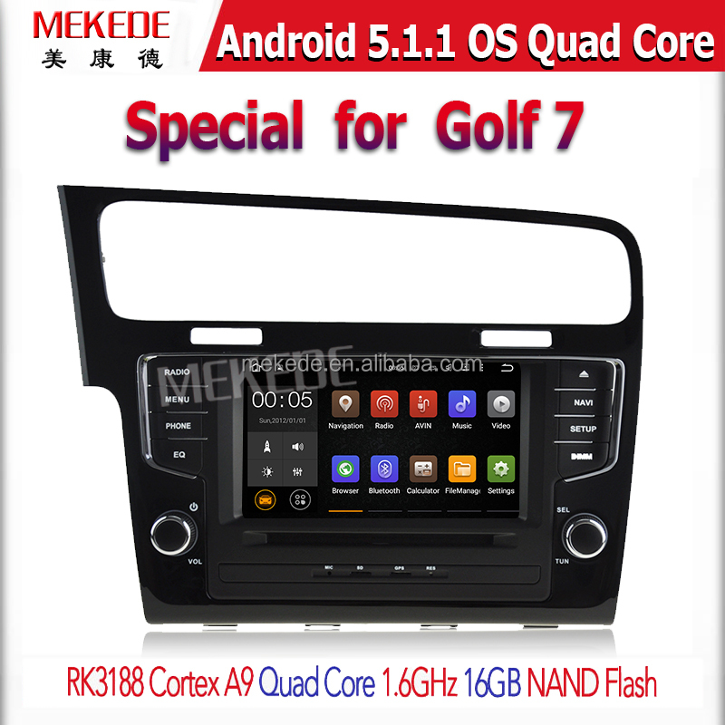 Cheapest Factory price +PX3-RK3188 android 5.1.1 Quad Core CAR DVD player GPS Navigation For VW GOLF7