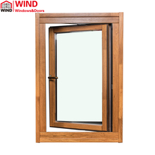 Aluminum clad wood casement composite outward opening window
