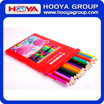 18pcs hexagonal wooden multi color pencil set
