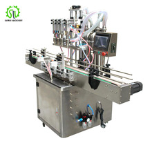 2018 customized 4 nozzles bottling automatic shampoo detergent filling machine