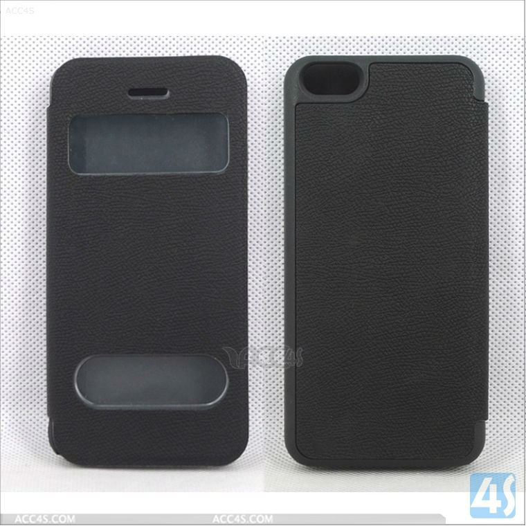 Alibaba Express New Product Leather Case Cover with Couple Window for iPhone 5C P-IPH5CCASE038