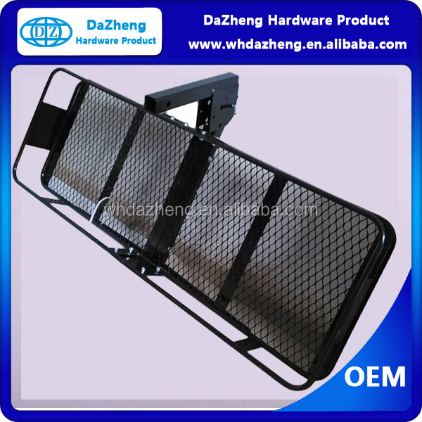 Steel Basket Folding trailer steel hitch luggage ruck/ cargo carrier