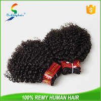 walmart hair extension natural color 12 inch - 26 inch Peruvian Jerry curl hair extension