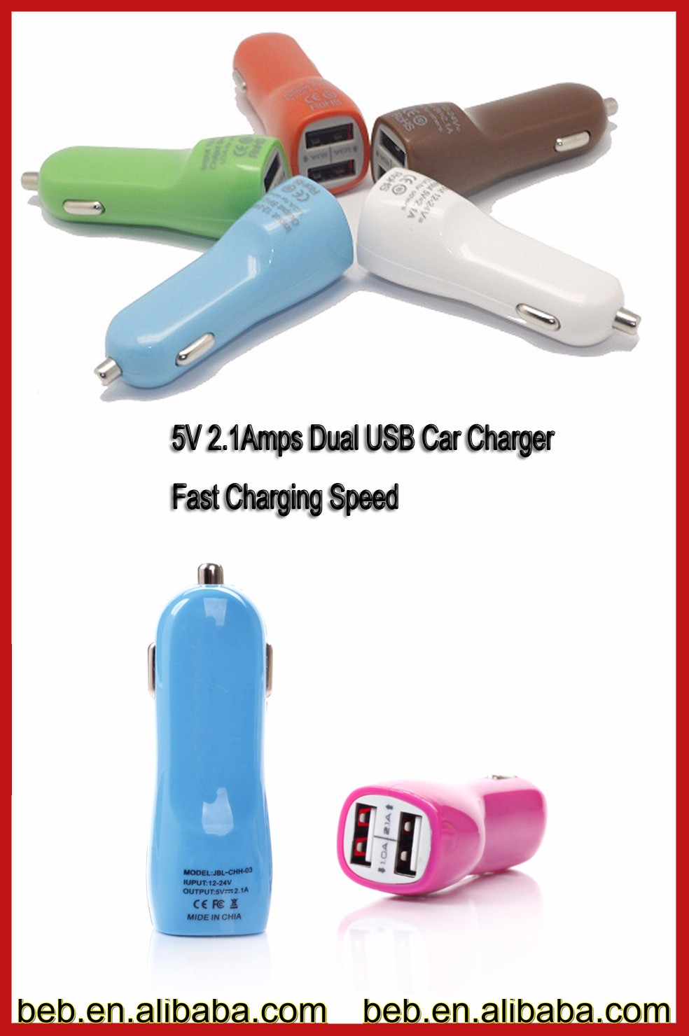 Wholesale usb car charger for ipad 2 3 4
