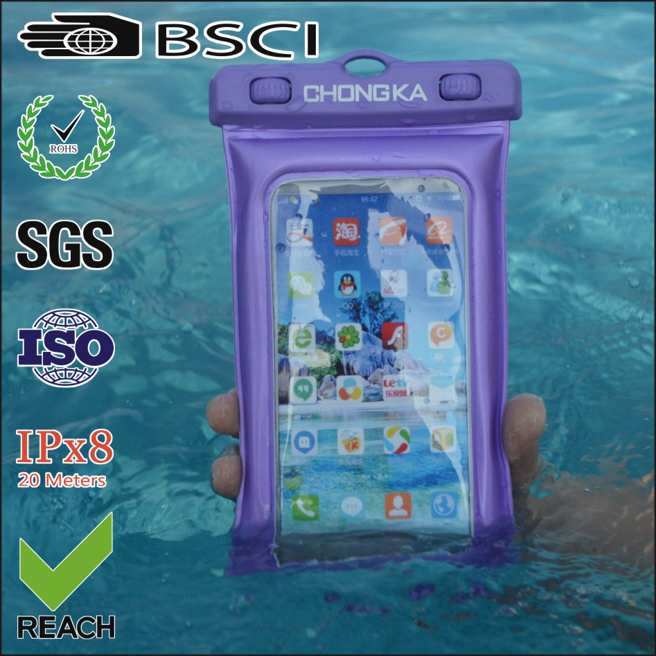 waterproof case for asus zenfone 2/pvc waterproof bag case/pvc waterproof mobile phone case