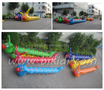 Funny PVC Water Floating Inflatable Caterpillar, Water park games for pool D3033