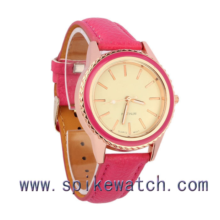 Women casual dress pink color alloy case fast shipping fashion watches colors