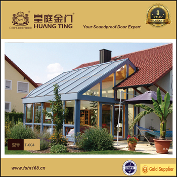 New design aluminum frame hot insulated portable glass sun room