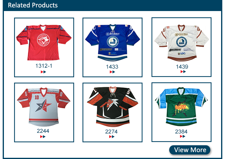Custom OEM professional fashionable fancy beer league hockey jerseys