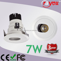 high quality led retrofit recessed downlight,cob 7w led downlight for distributors
