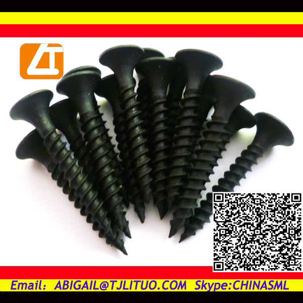 apply truss head black drywall screws