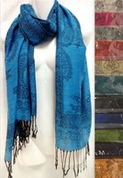 Wholesale Paisley Flower Pashmina Scarf Scarves Assorted Colors