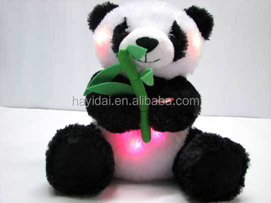 Peluches panda toys with light