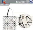 Diamond silver block tote new trendy lady handbag free sample