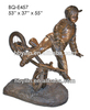 home decor bronze boy riding bike sculpture