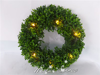 Brand-new artificial Christmas wreath evergreen garland with LED lights