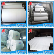 150g/m2 building polyester roofing mat / felt for SBS puncture resistance fabric