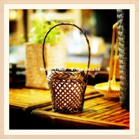 Candle holder eco-friendly bamboo fruit basket bamboo home decoration