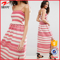Pom Pom Detail Tie cami striped Shirred Maxi fashion design ladies dress names