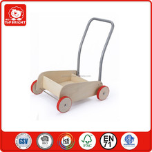 ST certificate innovative products for kids wooden and rubber bordure wheel can change the tap position wood goge baby walker