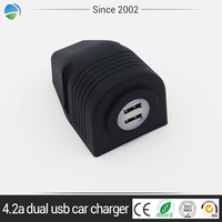 Hot Mini Bullet 4.2A Dual USB 2-Port LED Car Charger Adaptor For Cell Phone
