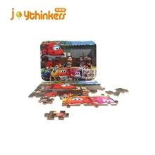 Wood Jigsaw Puzzles Great educational Toy 60 Pieces jigsaw puzzle in Iron Box for Kids Ages 4-8