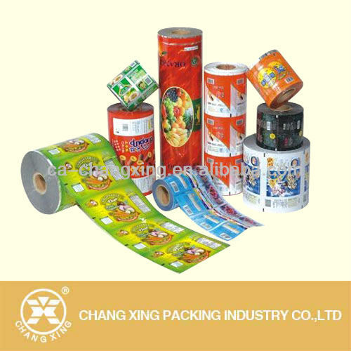 Auto roll plastic film for food/snack/powder/candy packaging/auto filling plastic film