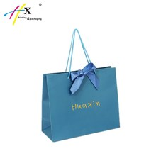 Fashion paper shopping bag gift bag with ribbon tie