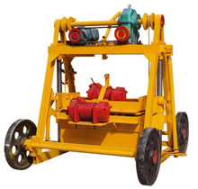 High quality QTF40-3B mobile concrete block moulding machine in south africa