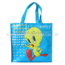 BSCI audit factory shopping bag/pp woven bags manufacturers in karachi/pp woven bag raw material