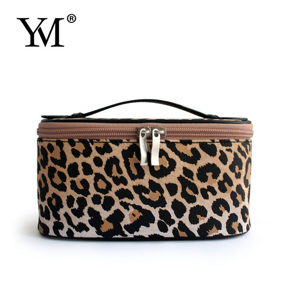 2015 train microfiber leopard makeup bags cases