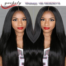 Brazilian vigin human hair finest quality lace closure full cuticle silky straight silk top lace frontal wig
