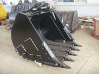 China mill low price excavator parts Doosan DX225 Bucket with tiger teeth