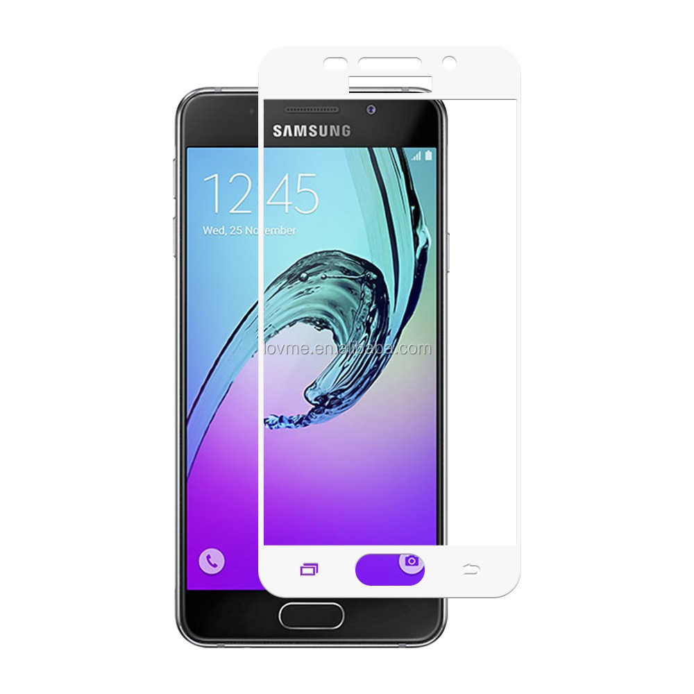Chrome Printed Color 9H Tempered Glass Screen Protector for Samsung Galaxy A3 2016