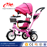 2016 new 4 in 1 kids tricycle / comfort and safe baby trick / children tricycle with lower price