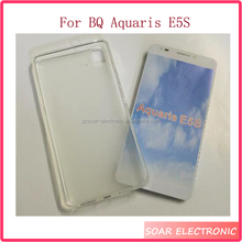 Factory wholsale Transparent tpu cover case for BQ Aquaris E5s