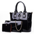 New Design Shiny Pu Three Sets Lady Bag