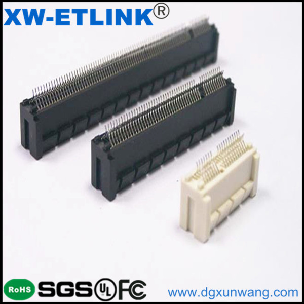 pci express dip straight riser black terminal connector