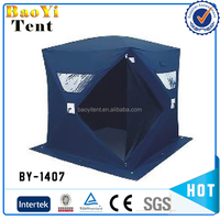 Automatic pop up ice fishing tent with fiberglass for 3-4 person