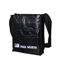 glossy laminated pp woven messenger carrier bag