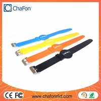 rfid wristband watch tag made by silicone material support logo printing and color optional