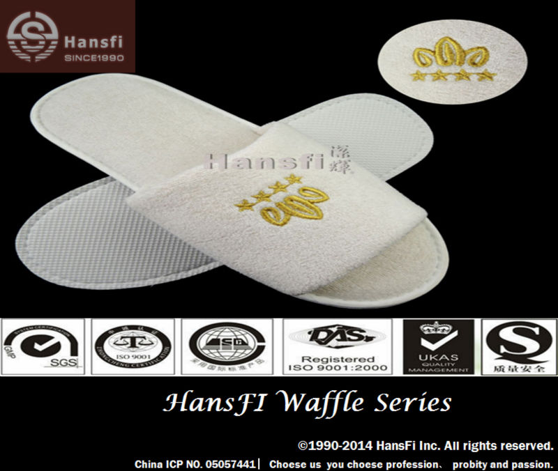 Hotel slipper promote sale season, open toe slipper