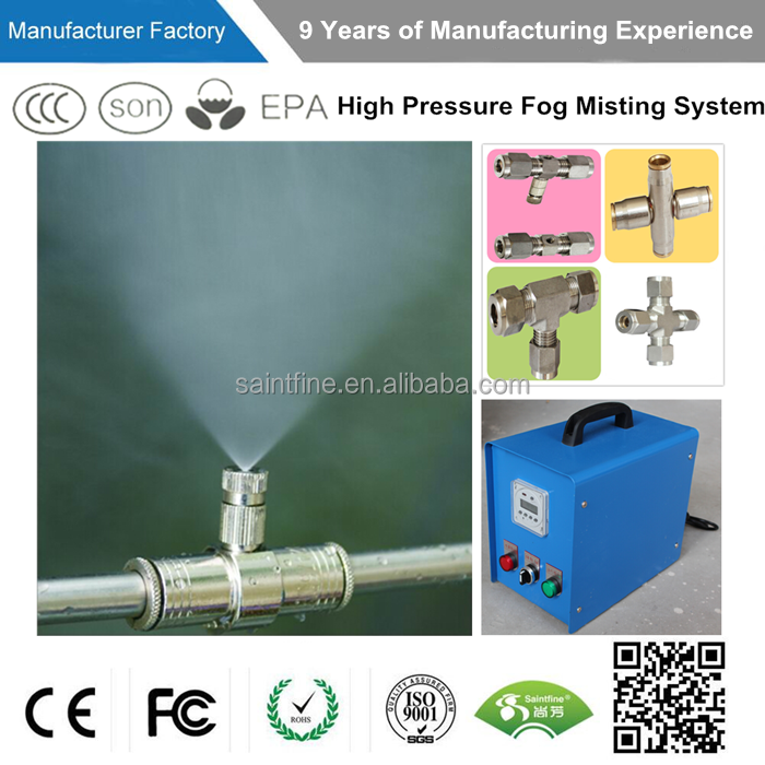 High pressure mist water cooling system