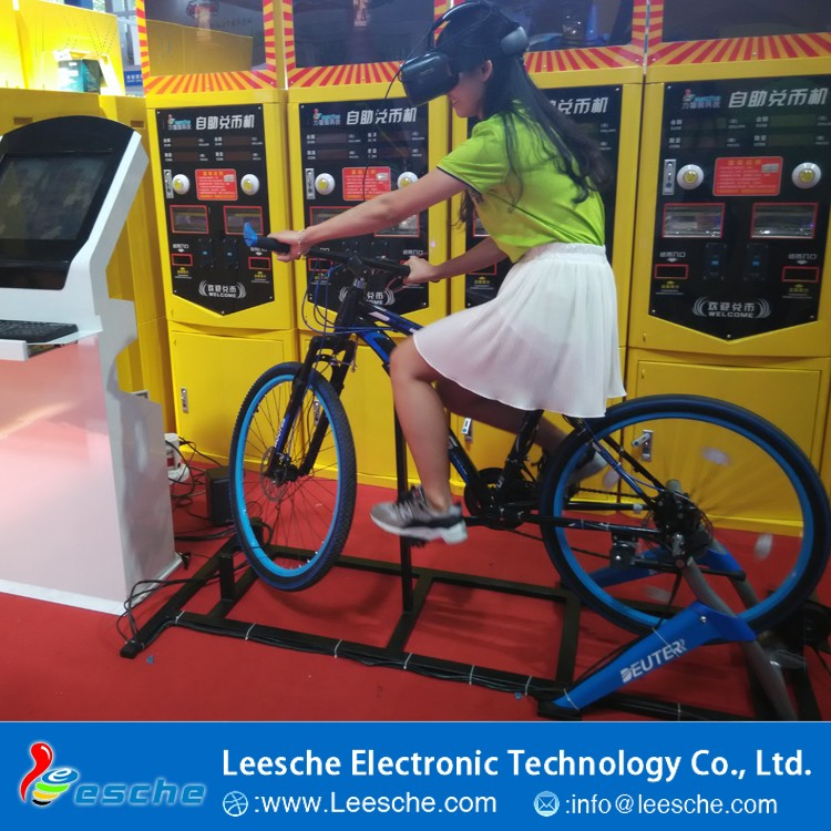 2016 Canton Fair vr bike with 3 glasses vr platform equipment motional games